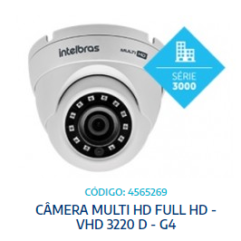 CÂMERA MULTI HD FULL HD - VHD 3220 D - G4 -INTELBRAS - UNIT