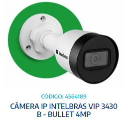 CÂMERA IP VIP 3430 B - BULLET 4MP - INTELBRAS - UNIT