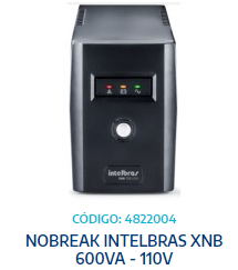 NOBREAK INTELBRAS XNB 600VA - 110V
