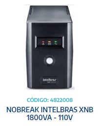 NOBREAK INTELBRAS XNB 1800VA - 110V